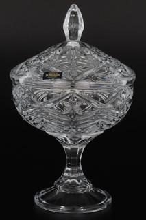 Конфетница с крышкой 24 см Crystalite Bohemia