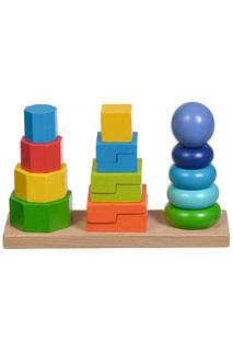 Пирамидки 3 в 1 Игрушки из дерева