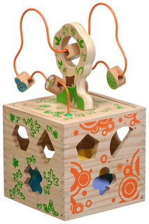 Логический кубик Игрушки из дерева