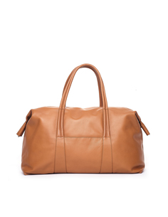 Коричневая кожаная дорожная сумка Maison Margiela