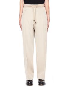 Бежевые шерстяные брюки со стрелками Maison Margiela