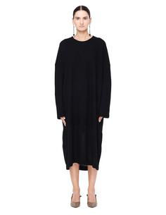 Трикотажное платье с длинными рукавами Y`s