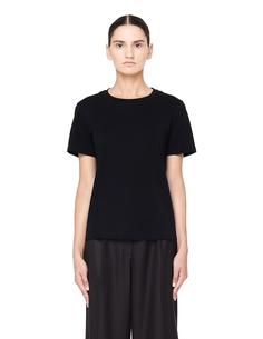 Черная футболка из хлопка The Row