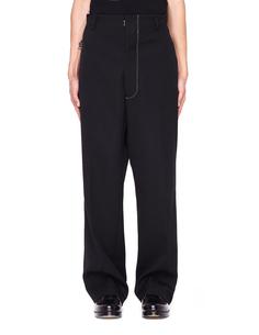 Черные брюки с контрастным швом Maison Margiela