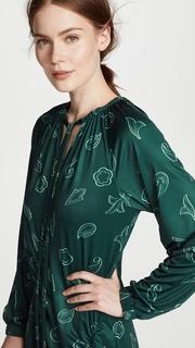 Tibi Remi Print on Jersey Long Dress