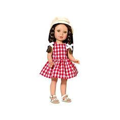 "Кукла Vestida de Azul ""Лето Кантри"" Паулина брюнетка, 33 см"