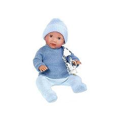 Кукла-пупс Vestida de Azul Анджело с закрывающимися глазами и с соской, 38 см (звук)