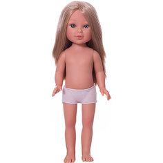 Кукла Vestida de Azul Паулина блондинка с волнистыми волосами без чёлки, 33 см