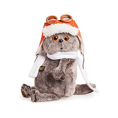 Мягкая игрушка Budi Basa Кот Басик в шлеме и шарфе, 25 см