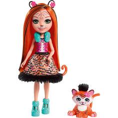 "Мини-кукла Enchantimals ""Любимая зверюшка"" Тайгер и тигрёнок Mattel"