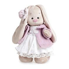 Мягкая игрушка Budi Basa Зайка Ми в фиолетовом пальто и белом платье, 25 см