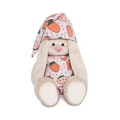 Мягкая игрушка Budi Basa Зайка Ми в пижаме в клубничку, 34 см