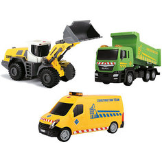 """Набор машинок Dickie Toys """"Строительная техника"""", 3 машинки"""