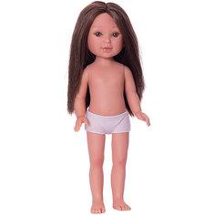 Кукла Vestida de Azul Паулина брюнетка без чёлки, 33 см