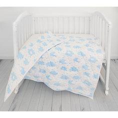 "Одеяло стеганное Baby Nice ""Облака"" голубое"