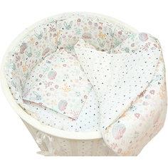 """Борт для круглой Baby Nice кроватки """"Лесная поляна"""" бежевый"""