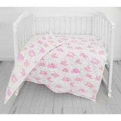"""Одеяло стеганное Baby Nice """"Облака"""" розовое"""