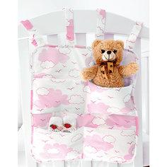 """Органайзер для детской кроватки Baby Nice """"Облака"""" розовый"""