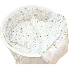 """Комплект постельного белья для круглой кроватки Baby Nice """"Лесная поляна"""" розовый"""