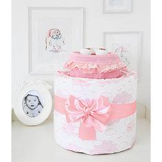 """Подарочный набор для новорожденного Baby Nice """"Облака"""" розовый"""
