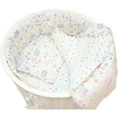 """Борт для круглой Baby Nice кроватки """"Лесная поляна"""" розовый"""