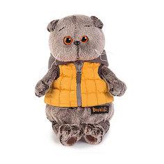 Мягкая игрушка Budi Basa Кот Басик в желтой жилетке с серым капюшоном, 25 см