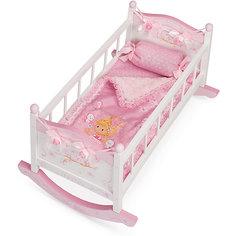 Кроватка-качалка для куклы DeCuevas, серия Мария, 56см