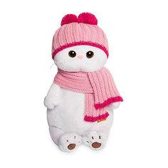 Мягкая игрушка Budi Basa Кошечка Ли-Ли в розовой шапке с шарфом, 24 см