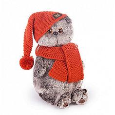 Мягкая игрушка Budi Basa Кот Басик в вязаной шапке и шарфе, 19 см