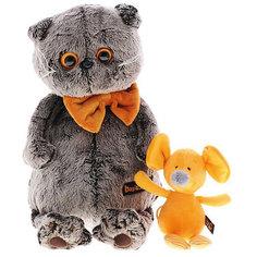 Мягкая игрушка Budi Basa Кот Басик с мышкой Миленой, 30 см
