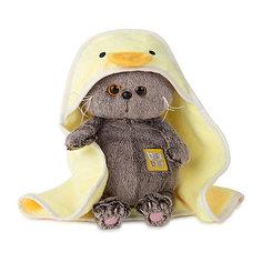 Мягкая игрушка Budi Basa Кот Басик Baby в полотенце с капюшоном