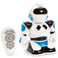 Радиоуправляемый робот Наша Игрушка со светом и звуком, белый
