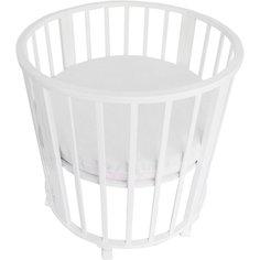 Наматрасник для круглой кроватки Baby Nice белый