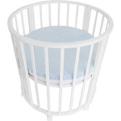 Наматрасник для круглой кроватки Baby Nice голубой