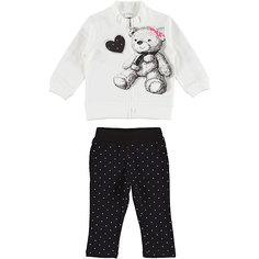 Комплект:футболка с длинным рукавом,брюки iDO для девочки