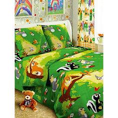Детское постельное белье 1,5 сп Letto Лесные друзья