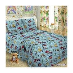 Детское постельное белье 1,5 сп Letto, Веселые машинки