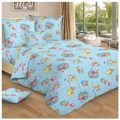 Детское постельное белье 3 предмета Letto, простыня на резинке, BGR-73