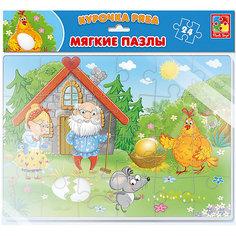 """Мягкие пазлы Vladi Toys """"Сказки"""" Курочка Ряба, 24 элемента"""