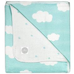 Муслиновое одеяло 120х120см, Clouds Jade (Нефритовые облака) Jollein