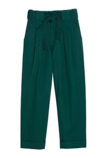 Зеленые брюки со складками Sandro
