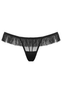 Черные стринги с бахромой Burlesque Petra