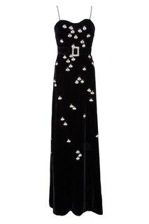 Черное платье на тонких бретелях Gucci
