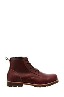 Бордовые ботинки с меховой подкладкой Affex