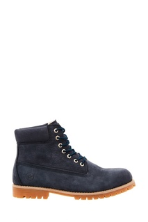 Синие ботинки из нубука Affex