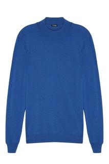 Синий пуловер Kiton
