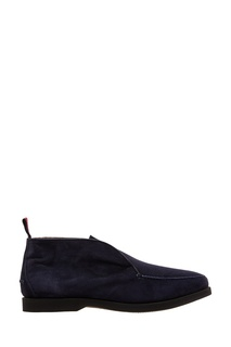 Синие ботинки с мехом Kiton