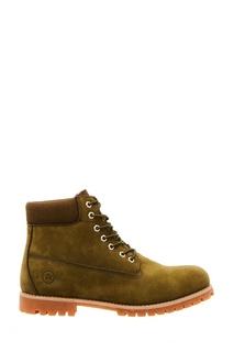 Зеленые ботинки из нубука Affex
