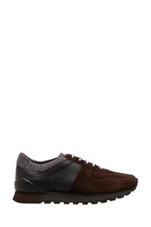 Комбинированные ботинки в спортивном стиле Kiton