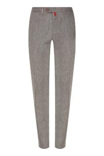 Зауженные серые брюки Kiton
